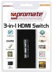 Promate proSwitch.H3- HDMI Mini Switch