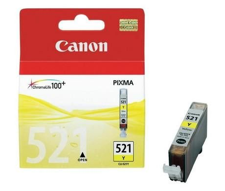Original Canon CLI-521 Yellow Ink Cartridge