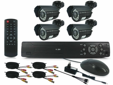 4 Channel HDMI DIY CCTV Kit with Internet & 3G Phone Viewing