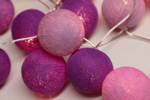 Mixed Purple LED Battery String Light