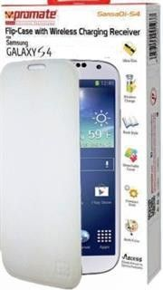Promate SansaQi-S4 Flip-Case with Wireless Charging Receiver-White Retail Box 1 Year Warranty