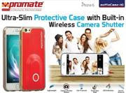Promate selfieCase-i6 Ultra-Slim Protective case with Built-in Wireless Camera Shutter - Red