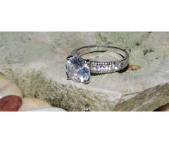 Silver Ring with Big CZ-Stone