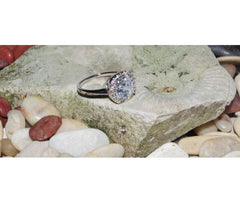 Silver Ring with Square CZ-Stone