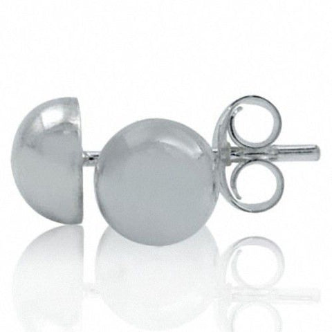 7mm Dome Stud Earrings in 925 Sterling Silver