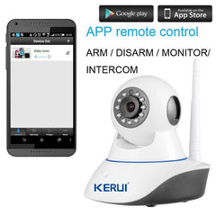 IP Camera, Fire Detector and Home Security