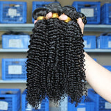 Brazilian Virgin Human Hair 8A - Kinky Curly - 3 Bundles