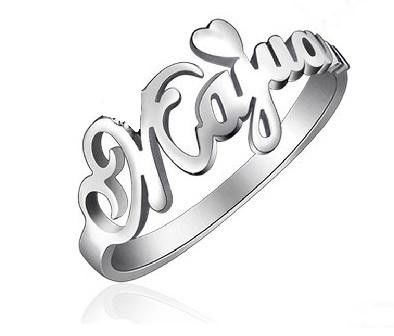 {Sterling Silver} Name Rings {Personalized & Unique}