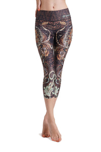 Batik Mandala Crop Leggings