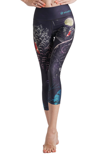 Black Swan Crop Leggings
