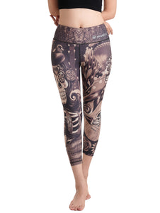 Dies Muertos Crop Leggings