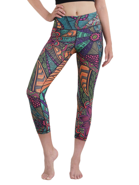 Aztec Color Crop Leggings