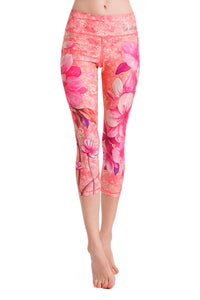 Pink Lily Crop Leggings
