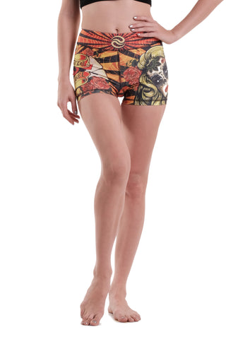 Sugar Skull Girl Shorts