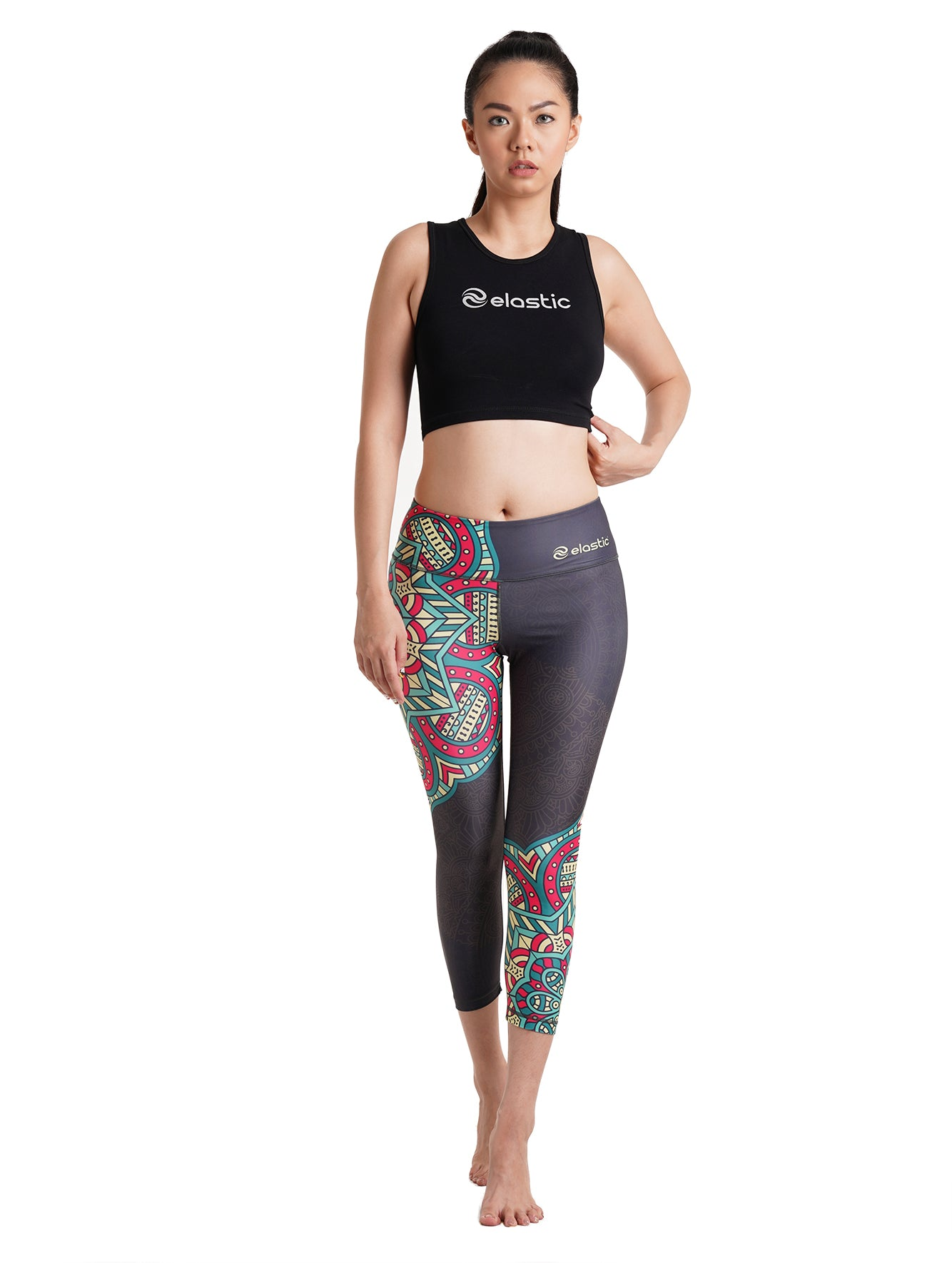 Mandala 2 Crop Leggings
