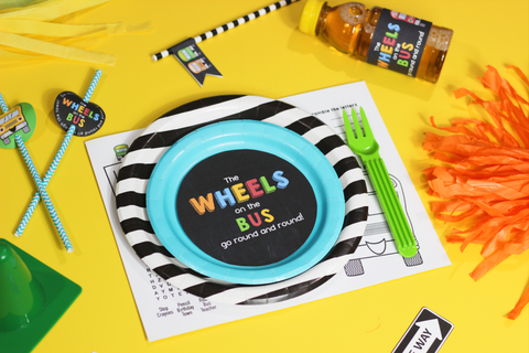 Wheels on the Bus Placemat