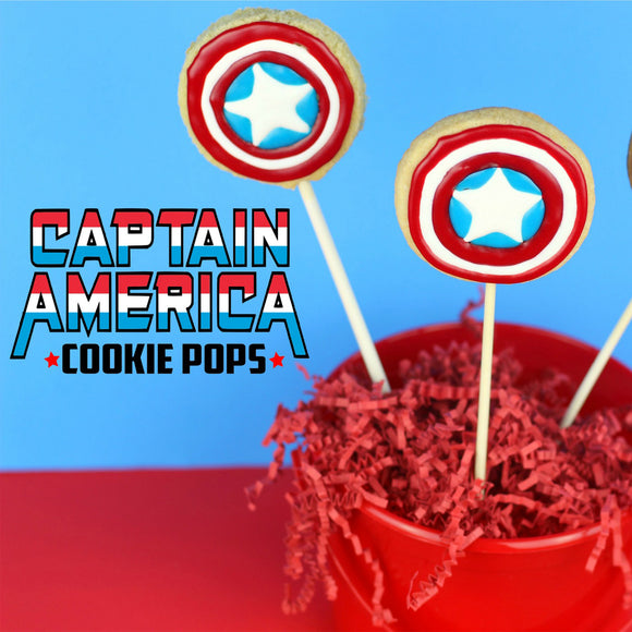 Captain America Cookie Cutter Template