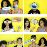 Use this cute Cookie Monster PDF Template to create your own Photo Booth Props. Print and paste a wooden dowel stick.