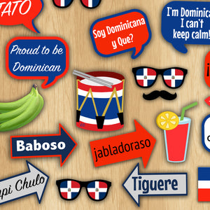 Dominican Republic Party Photo Booth Props