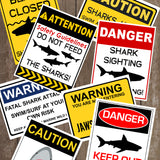 Decorate your Jaws Party with these fun shark decorative signs. You will receive a PDF file formatted 8 ½ X 11inches with 8 different Shark Warning Signs. Two of the signs can be edited with your child's name.