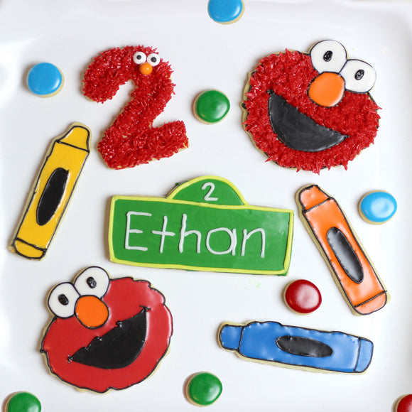 Elmo's World Cookie Cutter Template
