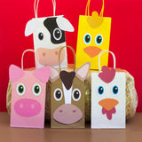Neigh! Cluck! Moo! Decorate your goodie bags with this Animal PDF Template. Use this template to coordinate with your child's farm birthday party.