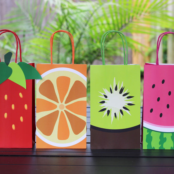 Oh so tutti fruitti! Decorate your goodie bags with this sweet Fruit PDF template. Use this template to coordinate with your birthday party, baby shower or any other event.