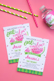One in a Melon Pink Invitation