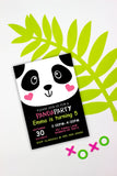Party like a Panda Invitation