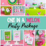 Celebrate a year of sweet fun, your little melon is one! Decorate your watermelon party with this PDF template. Some of the the designs in this package can be personalized with name and/or age.