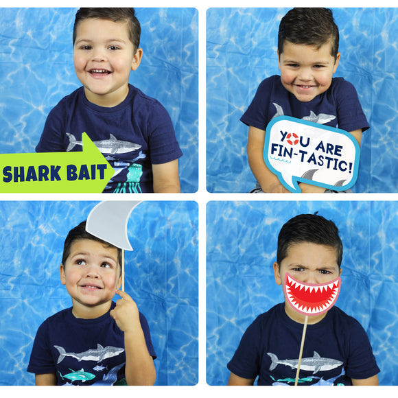 These jaw-some photo props will surely bring fun to your Shark Party Theme. You will receive a PDF file formatted on 8 ½
