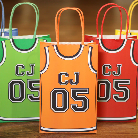 Basketball Jersey Personalized Favor Bag