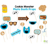 Cookie Monster Photo Booth Props
