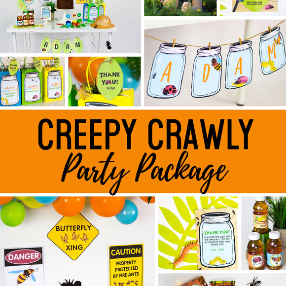 Creepy, Crawly Party Package