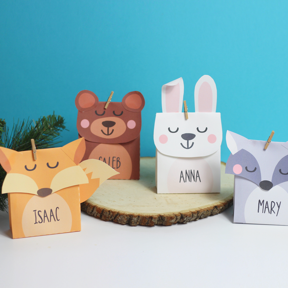 Woodland Animals Mini Favor Box