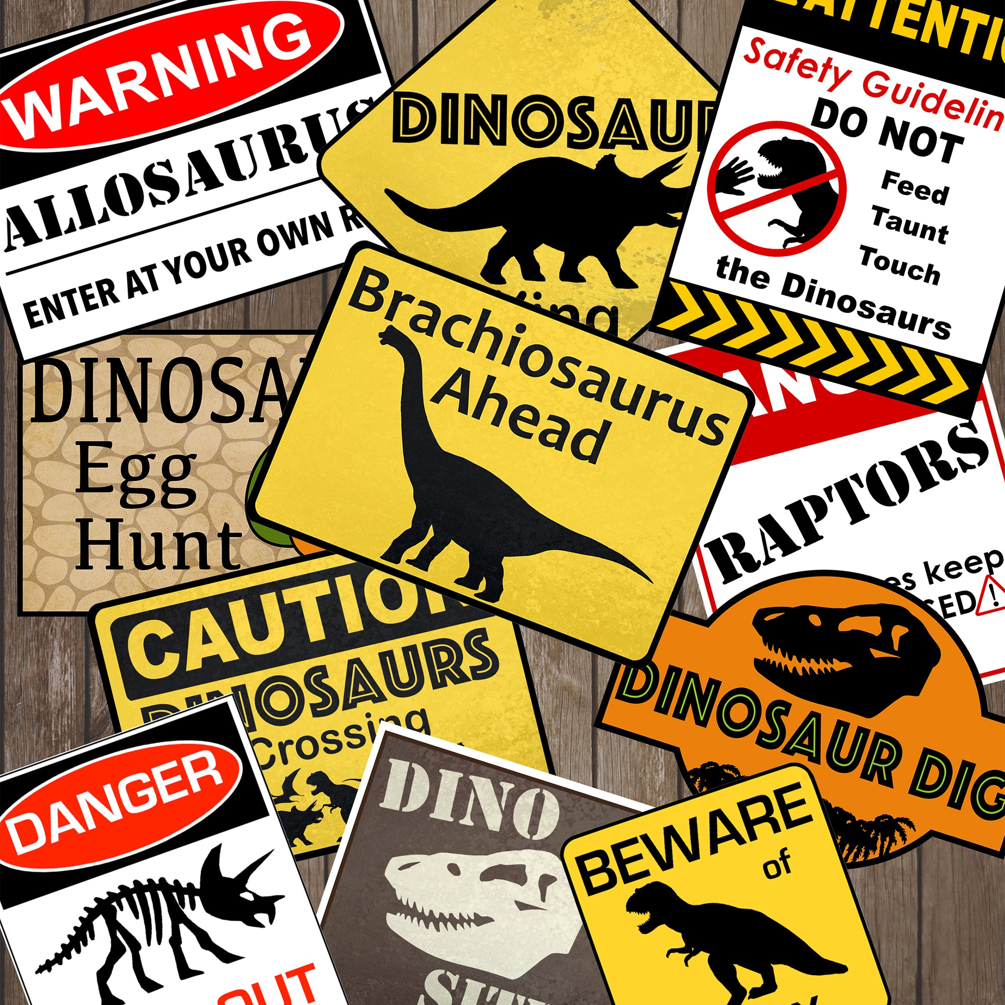 Dinosaur Party Warning Signs Simply Made With Sam