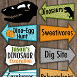 Dinosaur Directional Party Signs