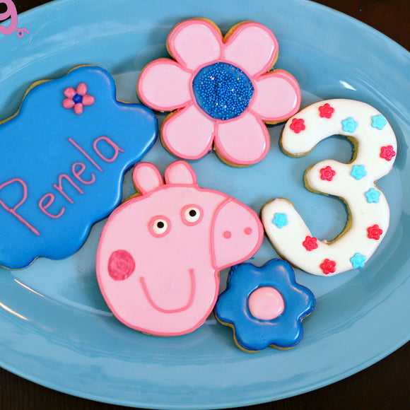 Peppa Pig Cookie Cutter Template
