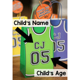 Slam Dunk!! Decorate your goodie bags with these personalized Basketball Party Templates.  This PDF file includes a basketball thank you tag so you can personalize them with your guests names or your child's name.