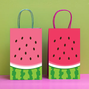 Pink Watermelon Favor Bag