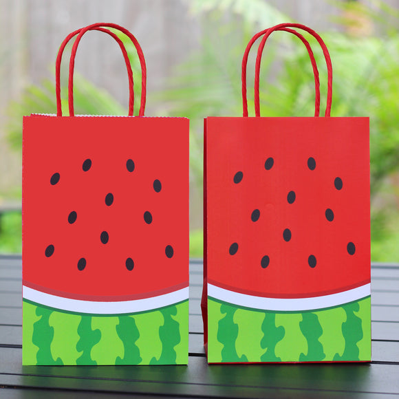 Red Watermelon Favor Bags