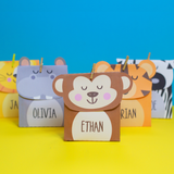 Safari Animals Mini Favor Box