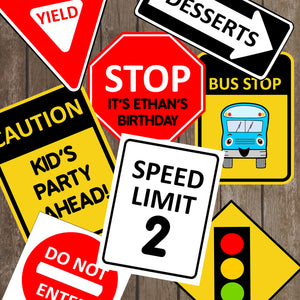 The wheels on bus go round and round! The template will include 8 different Wheels on the Bus Traffic Signs. Some of the the designs in this package can be personalized with name and/or age.