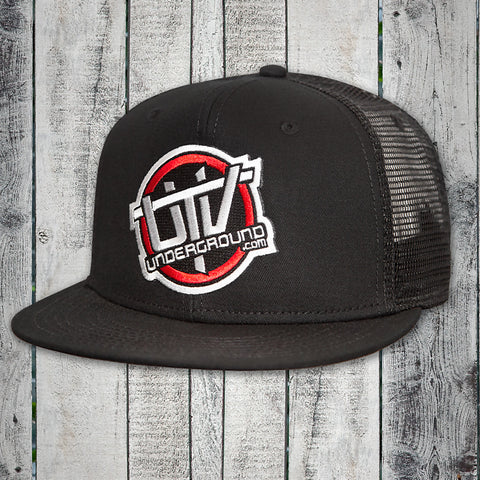UTVUnderground Snap Back Hat (Black, Black Bill)