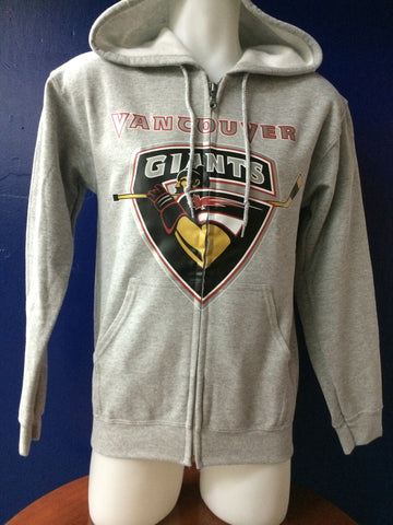Grey Zip-Up Giants Crest Hoody