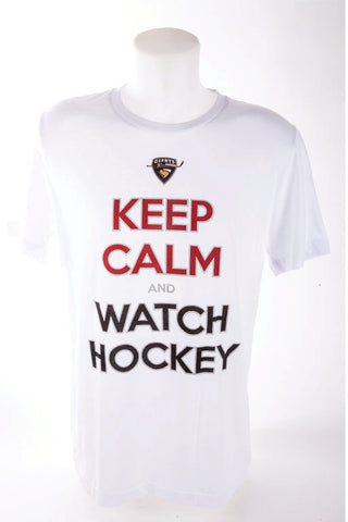 Keep Calm and Watch Hockey White Tshirt
