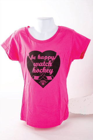 Be Happy Watch Hockey Girls tee
