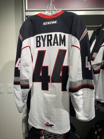 Bowen Byram Authentic Jersey - White