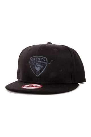 New Era Black on Charcoal Snapback