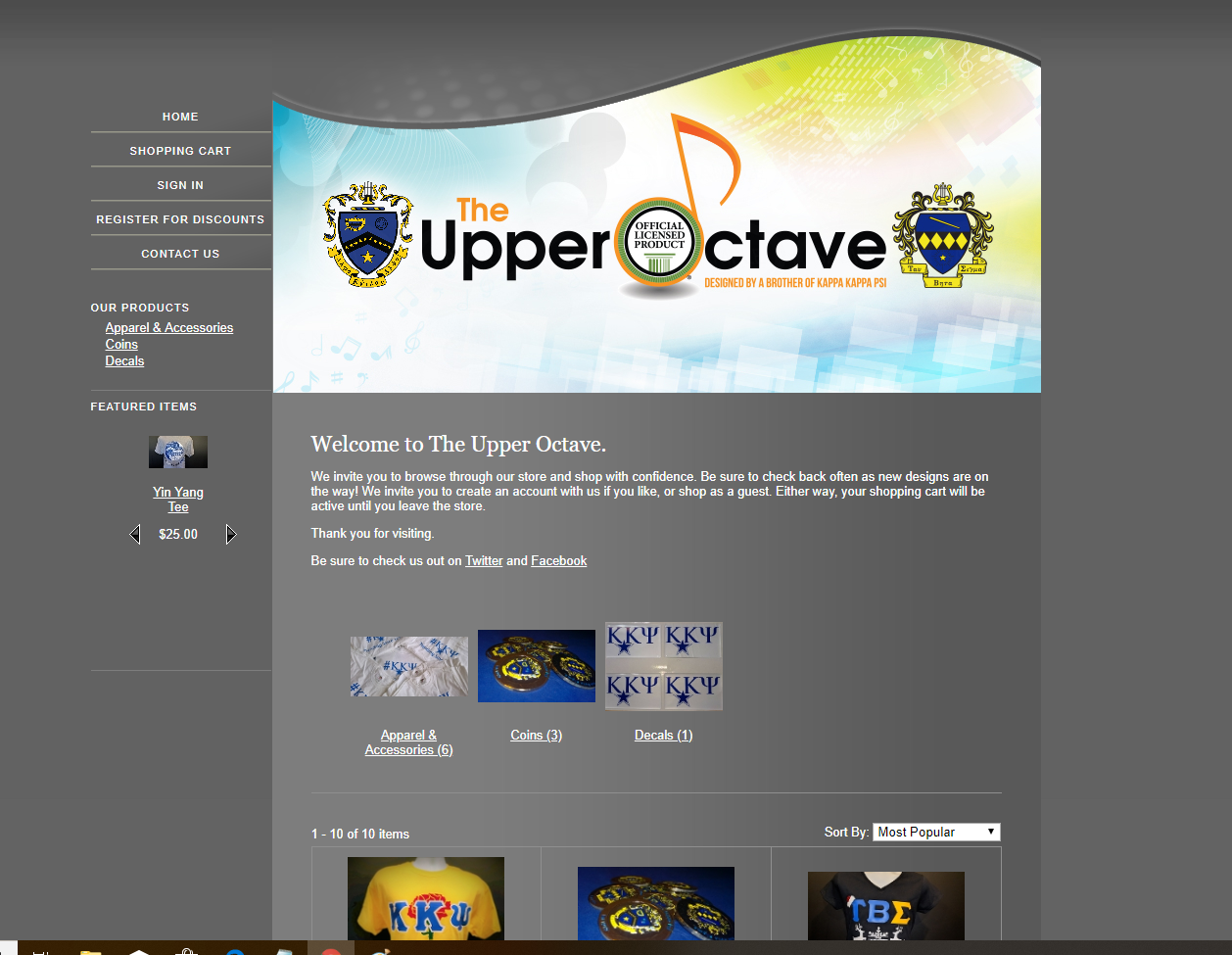 Old Upper Octave Website